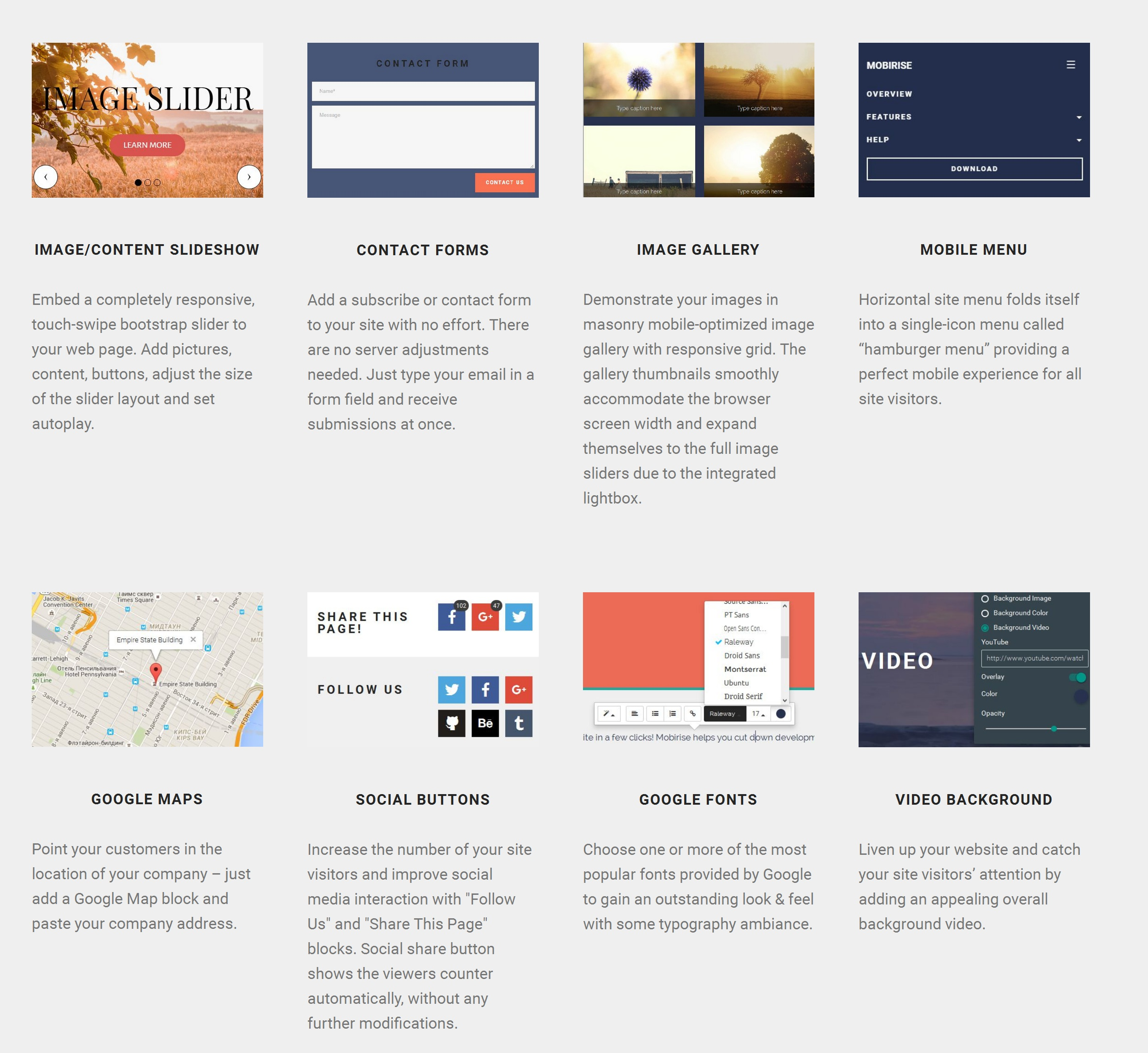 Free Bootstrap Web Page  Builder