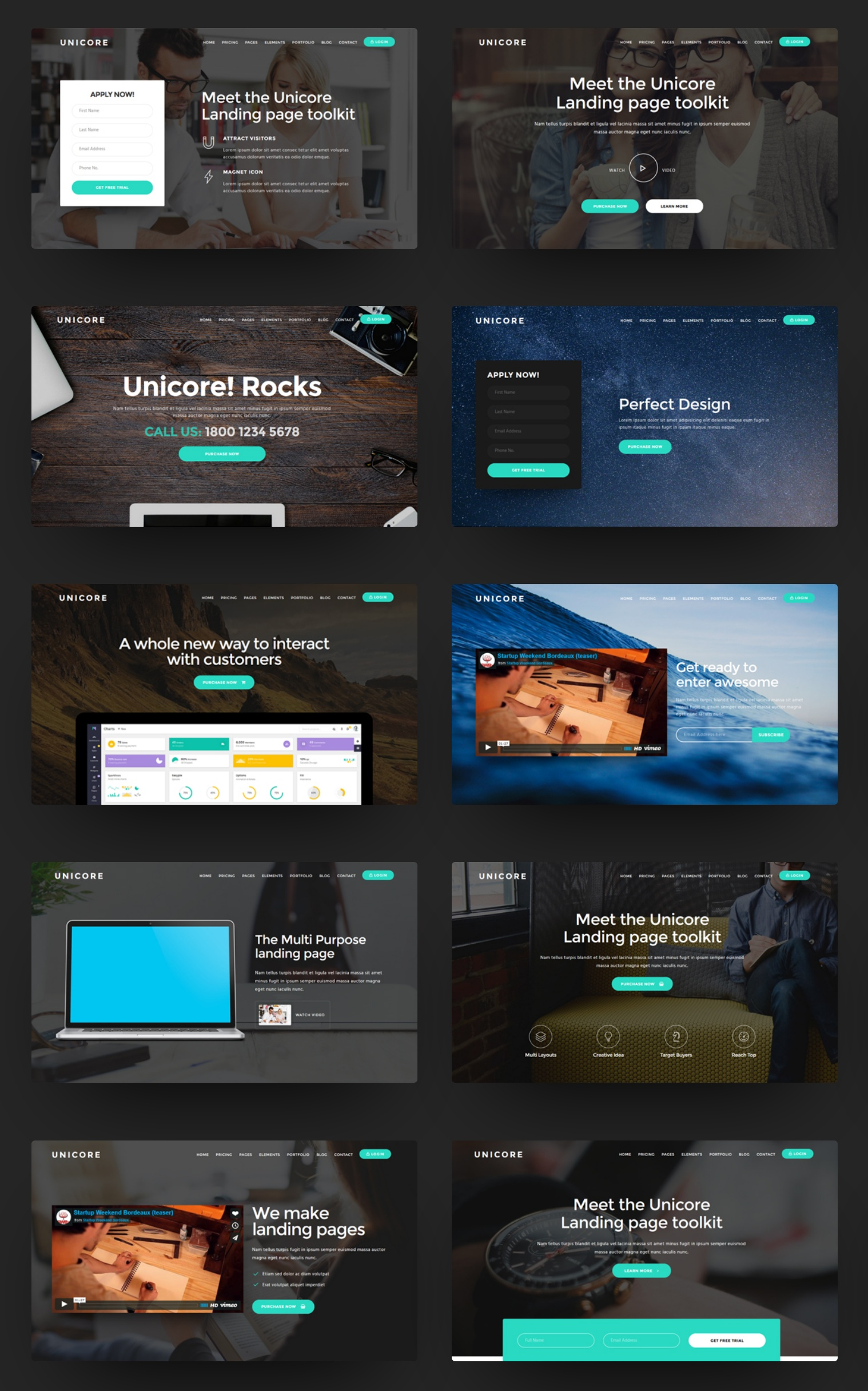 Bootstrap Landing Page Theme Creator