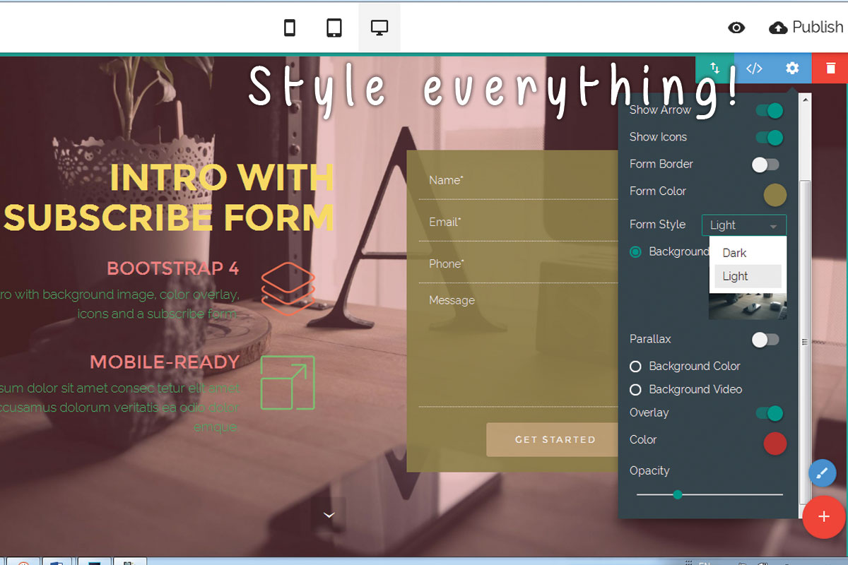 Bootstrap Responsive Web Site Creator Software