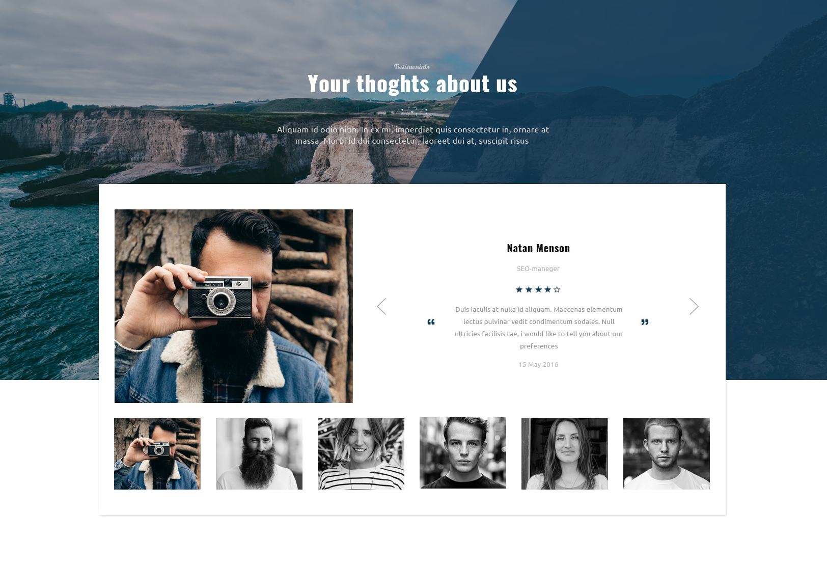 Responsive Bootstrap Simple Theme
