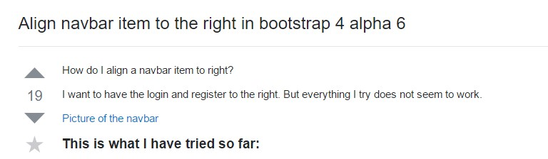 Coordinate navbar  object to the right in Bootstrap 4 alpha 6