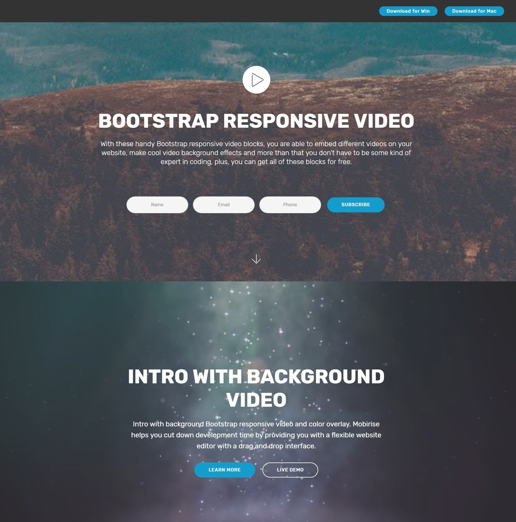 Bootstrap Responsive Video